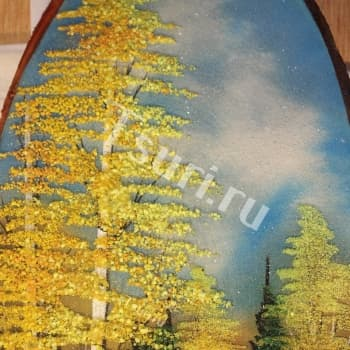Картина из самоцветов Золотая Осень