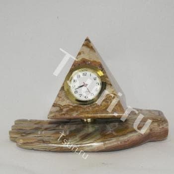 Часы из оникса Наливное Яблочко