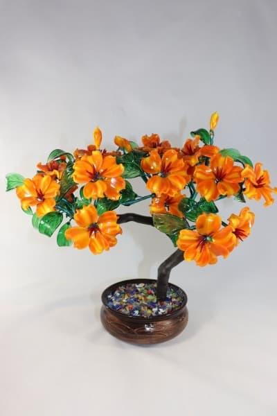 Цветы из стекла