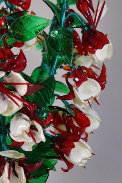 Подарок из стекла сережки леди сувенир красный