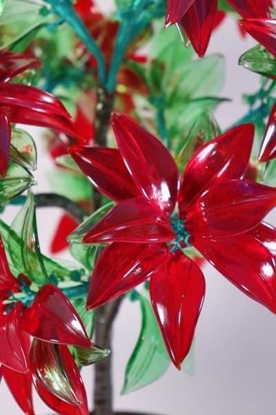 Подарок из стекла Цветочная композиция