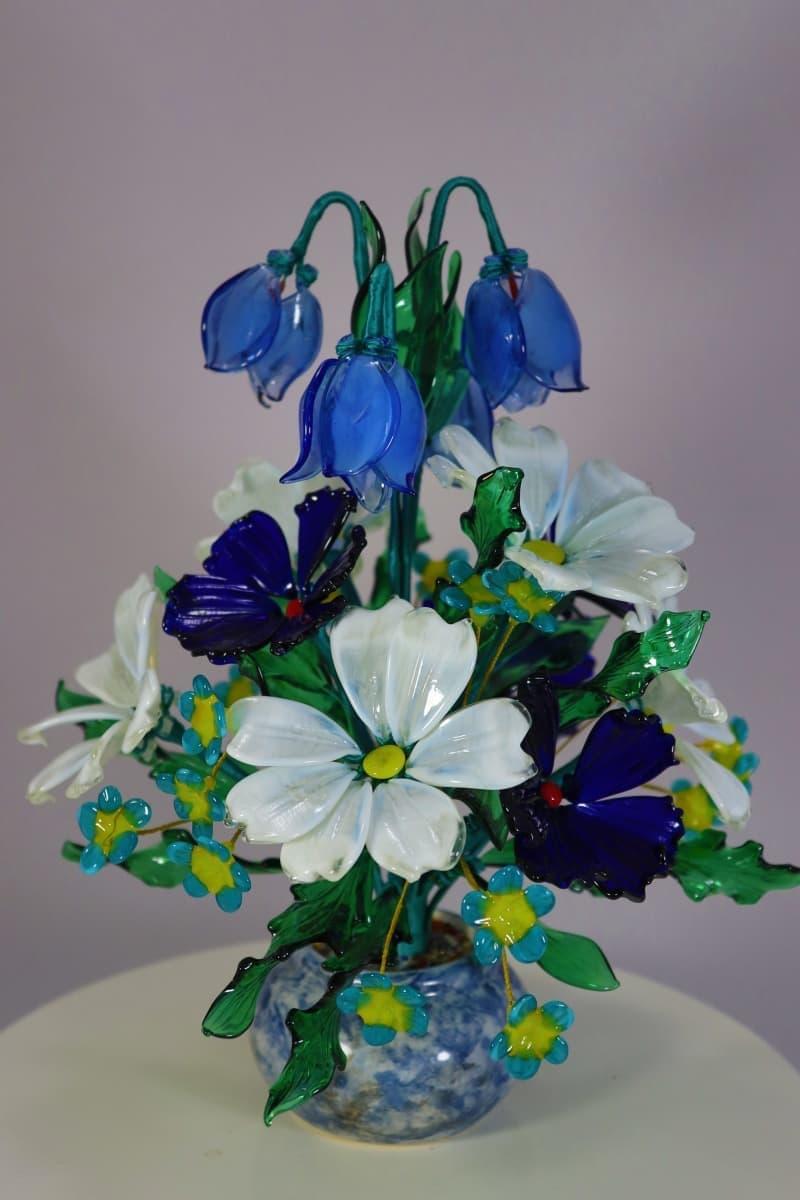 Букет полевых цветов из стекла