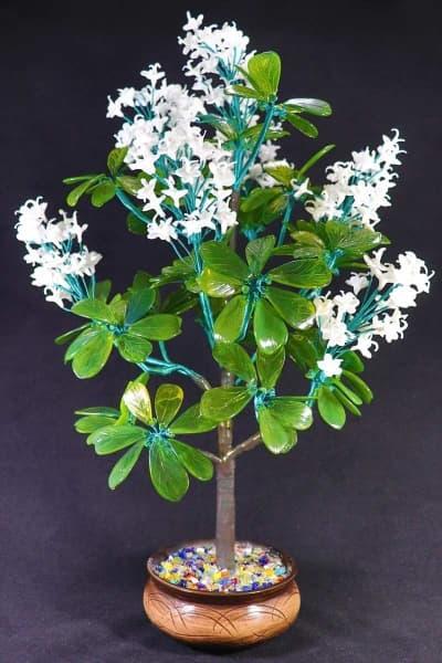 Цветок из стекла каштан