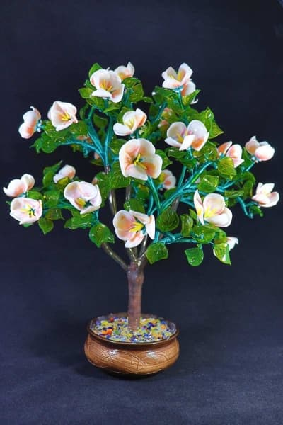 Цветок из стекла цветущая яблонька