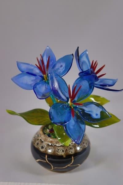 Цветочек из стекла