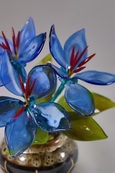 Стеклянный сувенир Цветочек