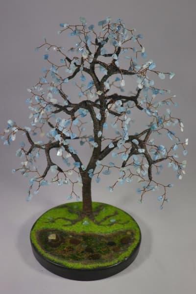 Дерево счастья из аквамарина