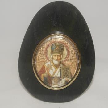 Яйцо. Образ св. Николай Чудотворец