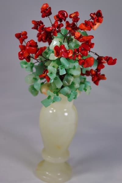 Цветочный Букет ru00405 из камня коралл