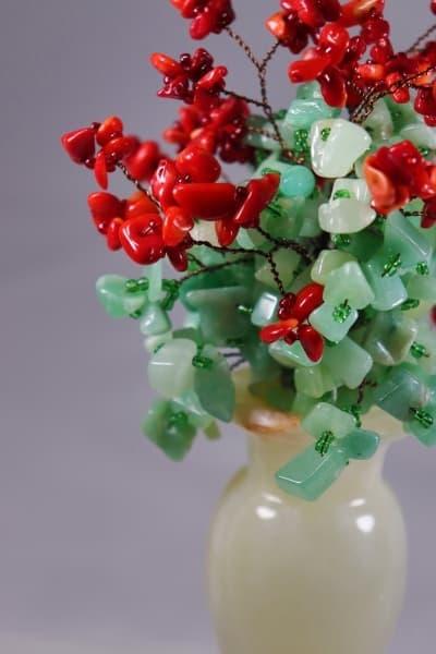 Подарок из камня Цветочный Букет ru00405