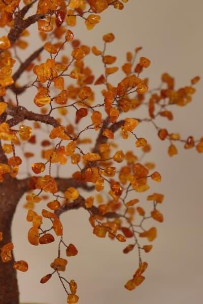 Сувенир из камня Древо из янтаря ru00541y