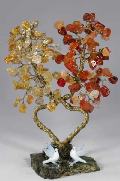 Дерево из сердолика и цитрина