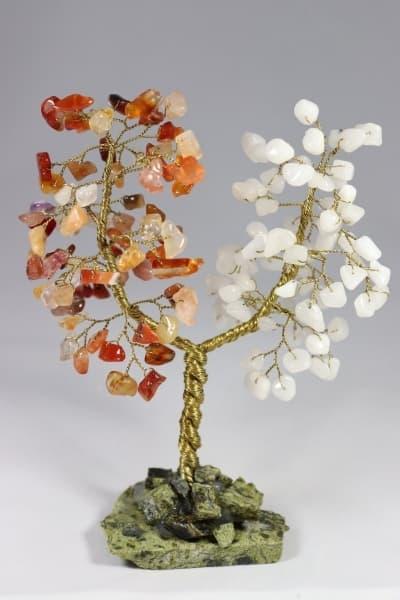 Дерево счастья из сердолика и агата