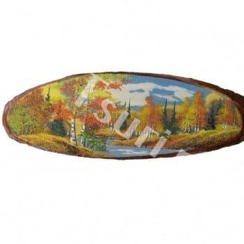Картина Золотая Осень из камня