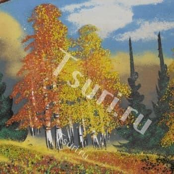 Сувенир из камня Картина Золотая Осень