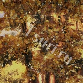 Картина с янтарём Водопад