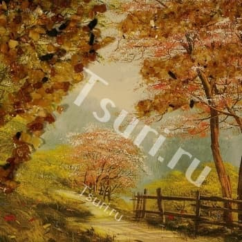 Картина с янтарём Природа
