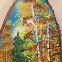 thumb_1144312a Картины из камня на срезе дерева