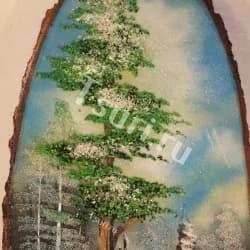 thumb_1144318a Картины из камня на срезе дерева