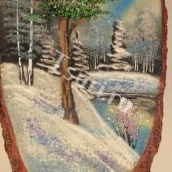 thumb_1144318b Картины из камня на срезе дерева