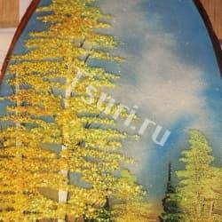 thumb_1144320a Картина на срезе дерева золотая осень