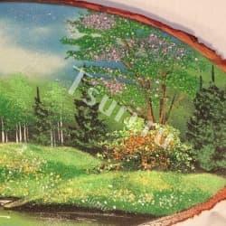 thumb_1194933a Картина на срезе дерева лето