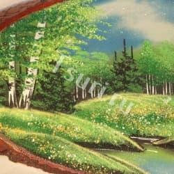 thumb_1194933b Картина на срезе дерева лето