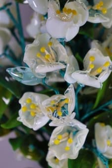 thumb_glass000179a Сувенир из стекла Райский Жасмин ручной работы