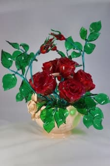 thumb_glass000235red Цветы из цветного стекла авторские работы