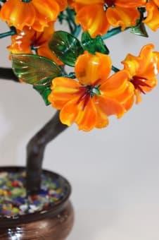 Цветочная композиция из стекла