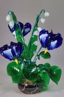 thumb_glass00124b Подарить на 13 лет свадьбы ландыши из стекла