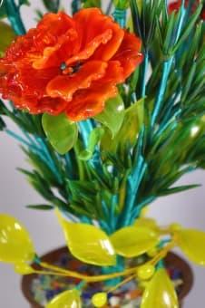 thumb_glass00170a Сувенир из стекла композиция из гвоздик ручной работы