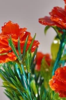 thumb_glass00170b Сувенир из стекла композиция из гвоздик ручной работы