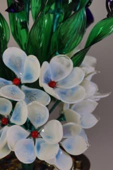thumb_glass00186b Сувенир из стекла Цветочный Букет ручной работы