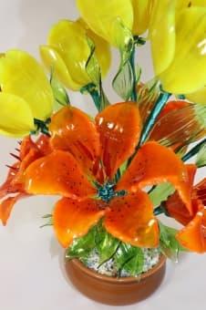 Сувенирный цветок из стекла
