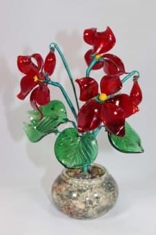thumb_glass00247 Стеклянный цветок фиалки glass00247