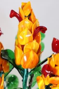 thumb_glass0062a1 Сувенир из стекла цветы лютения ручной работы