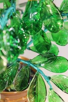 thumb_glass0062b1 Сувенир из стекла цветы лютения ручной работы
