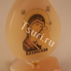 thumb_ra1007b Фигурка яйцо. образ казанской б.м. на янтаре ra1007