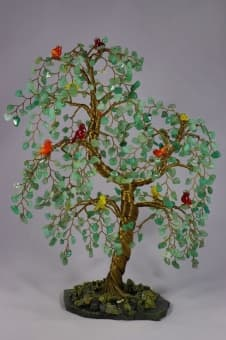 Древо с райскими 12-ю птичками