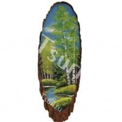 thumb_s447414 Картины из камня на срезе дерева