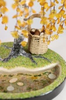 Дерево счастья Янтарная Русская берёзка