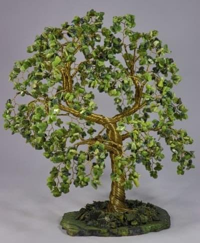 tree04 Подарок на деревянную свадьбу из самоцветов